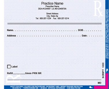 Picture Of Prescription Pad Rxpads Home Prescription Pads