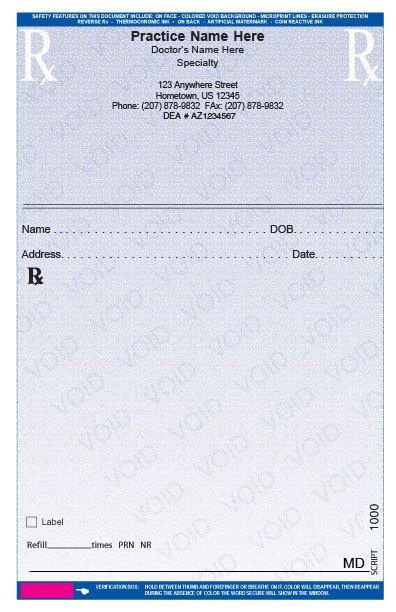 Picture Of Prescription Pad Rxpads Home Prescription Pads