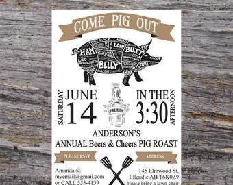 Pig Roast Invitation Template Free Bbq Invitation Pig Roast Invitation Backyard Bbq Invites