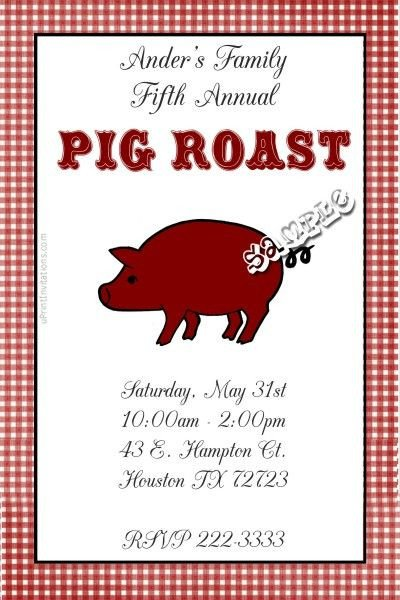 Pig Roast Invitation Template Free Pig Hog Roast Invitations Bbq Birthday Invitations Get