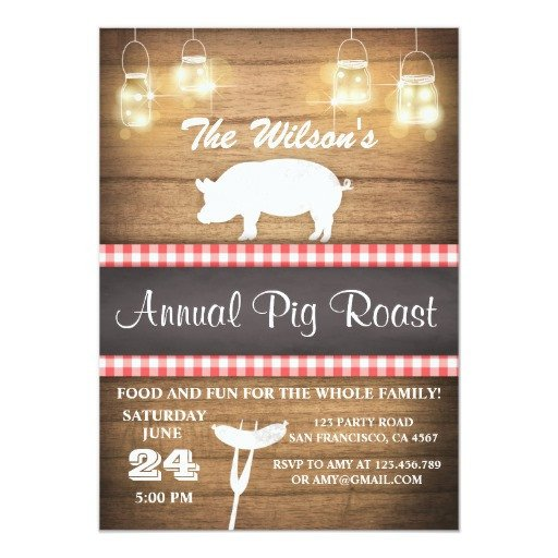 Pig Roast Invitation Template Free Pig Roast Invitation Bbq Babyq Shower Rustic Wood
