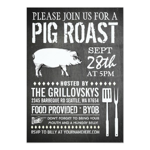 Pig Roast Invitation Template Free Pig Roast Invites 204 Pig Roast Invitation Templates
