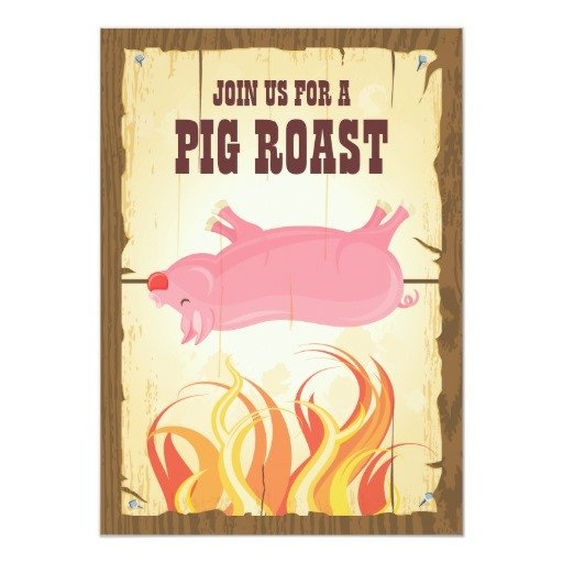 Pig Roast Invitation Template Free Pig Roast Party Invitation