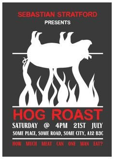 Pig Roast Invitation Template Free Pig Roast Table Cloth Invitations