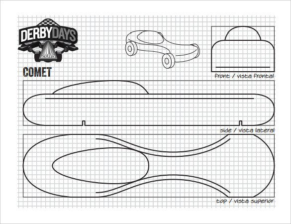 Pinewood Derby Car Design Template 27 Awesome Pinewood Derby Templates – Free Sample