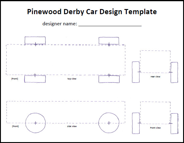 Pinewood Derby Car Design Template Cub Scout Pinewood Derby Car Tempate