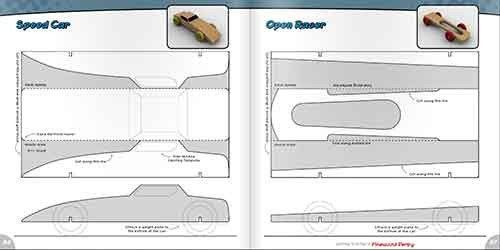 Pinewood Derby Car Design Template Getting Started In the Pinewood Derby Book