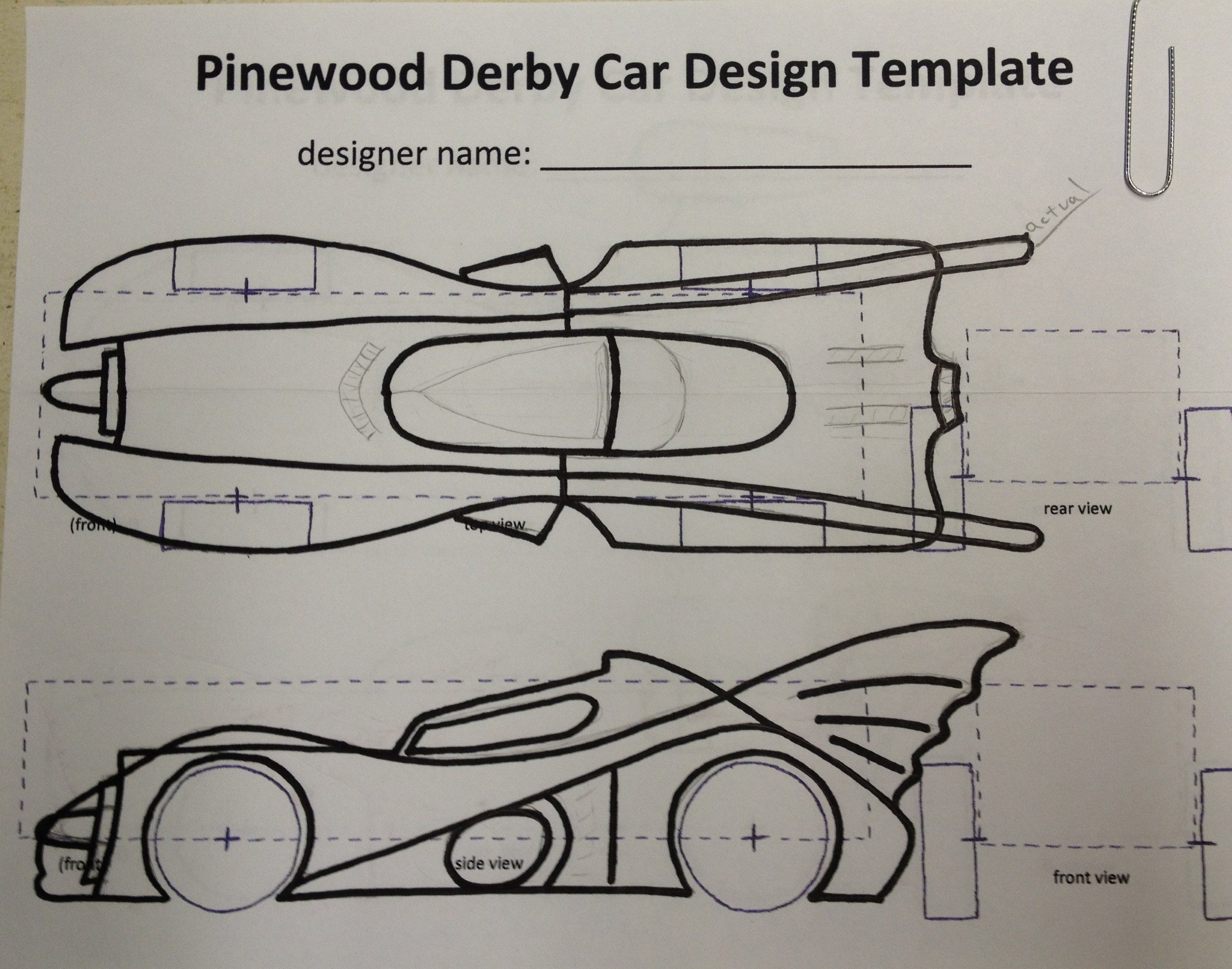 Pinewood Derby Car Design Template How to Build An Awesome Batmobile Pinewood Derby Car