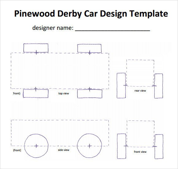 Pinewood Derby Car Design Template Pinewood Derby Templates 11 Download Documents In Pdf