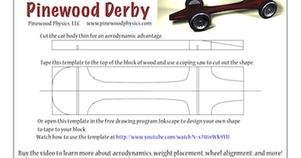 Pinewood Derby Car Design Template Pinewood Derby Templates
