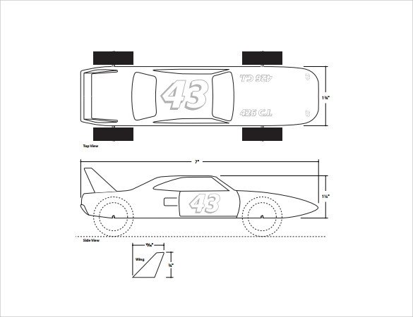Pinewood Derby Truck Templates Pinewood Derby Templates 11 Download Documents In Pdf