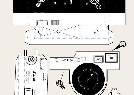 Pinhole Camera Template Leica M3 Pinhole Camera Papercraft