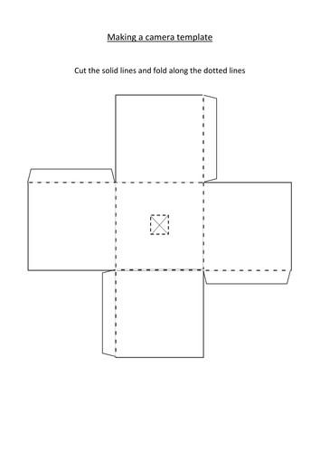 Pinhole Camera Template Making A Pinhole Camera by Wowboards Teaching Resources