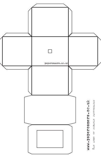 Pinhole Camera Template Paper Camera Template