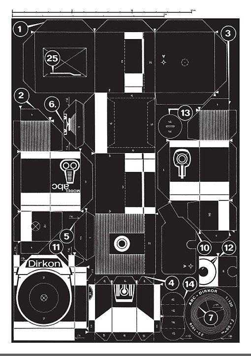 Pinhole Camera Template Paper Pinhole Camera