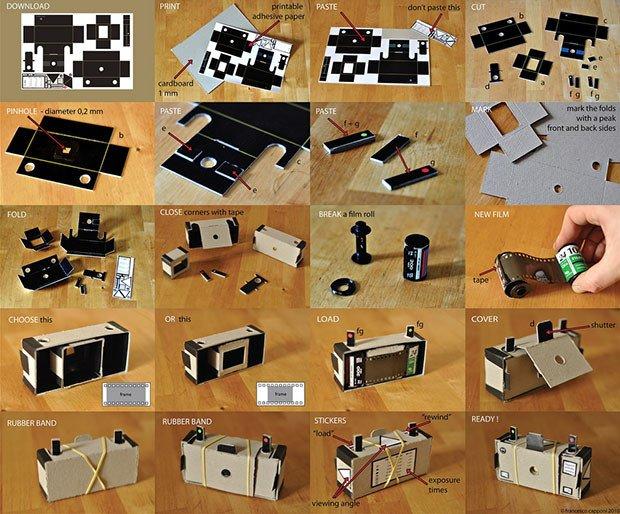 Pinhole Camera Template Print A Cardboard 35mm Pinhole Camera
