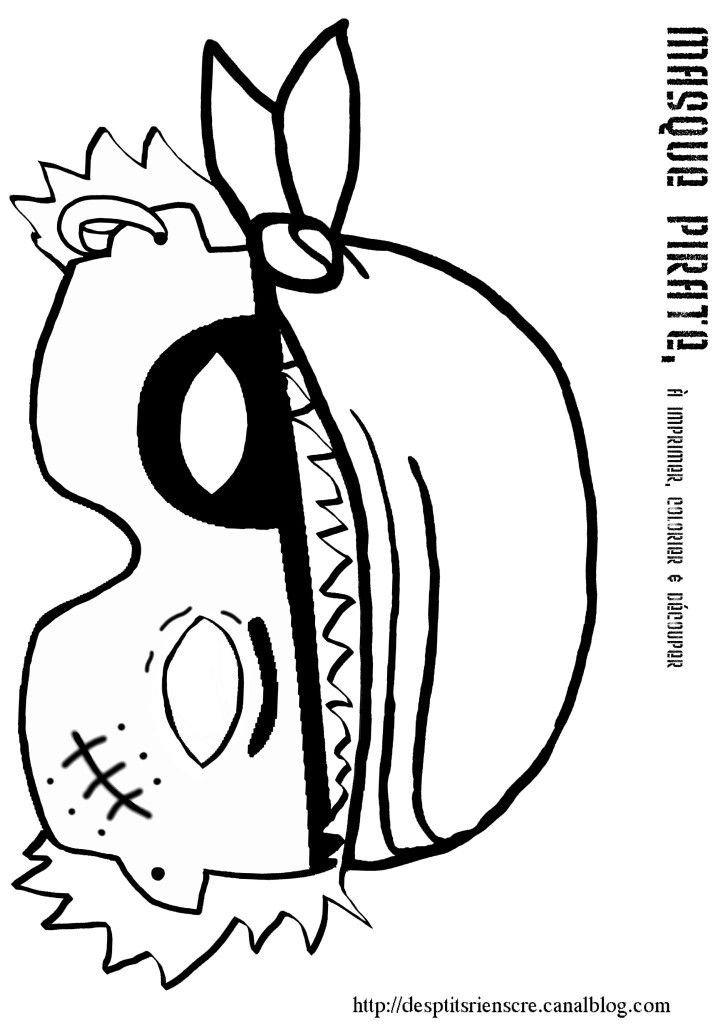 Pirate Mask Template 26 Best Masks Crafts Images On Pinterest