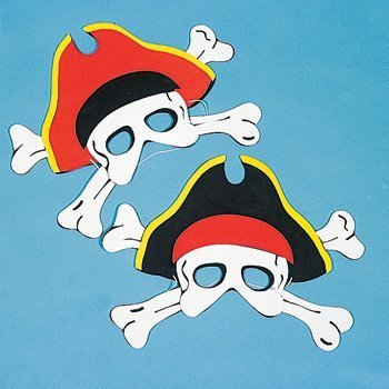 Pirate Mask Template Craft Kits and Supplies