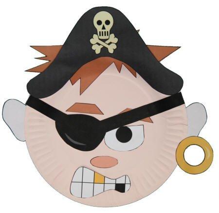 Pirate Mask Template Paper Plate Pirate Craft