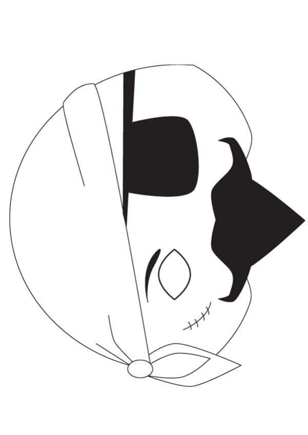 Pirate Mask Template Pirate Mask Template