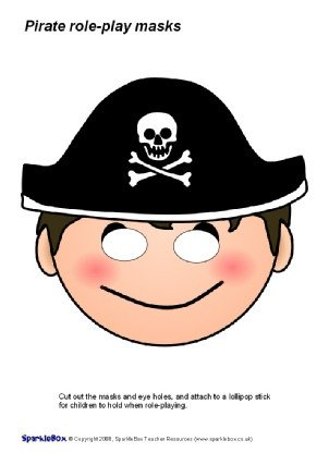 Pirate Mask Template Pirate Ship & Pirates Roleplay Printables and Resources