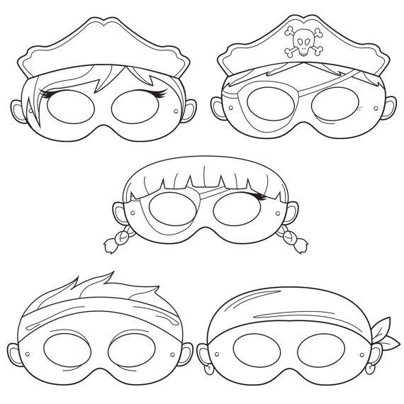 Pirate Mask Template Pirates Printable Coloring Masks Pirate Mask Captain