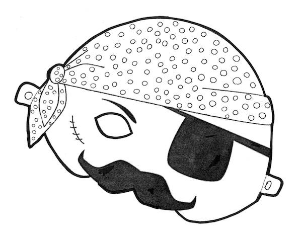 Pirate Mask Template Printable Halloween Masks