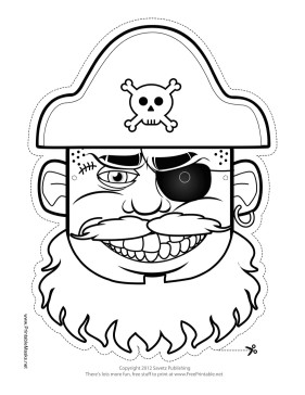 Pirate Mask Template Printable Hat Pirate Mask to Color Mask