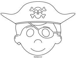 Pirate Mask Template Printable Pirate Mask