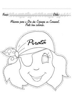 Pirate Mask Template Simple Flower Coloring Page Cute Flower