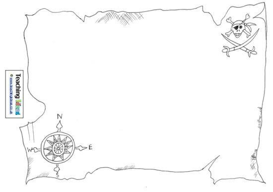 Pirate Treasure Map Template 10 Talk Like A Pirate Day Activities