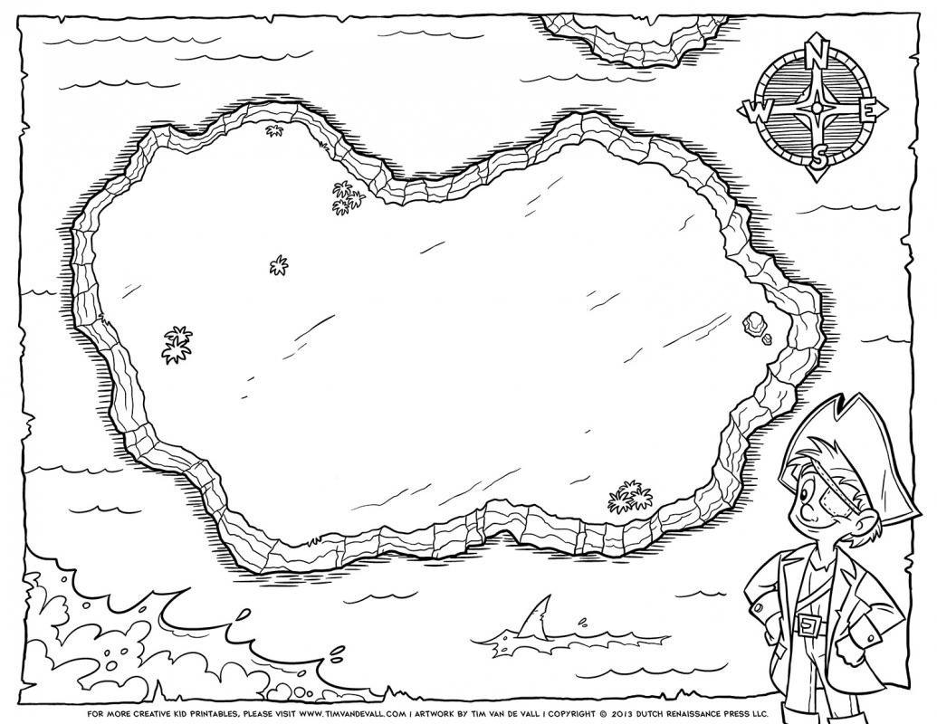Pirate Treasure Map Template Blank Treasure Map