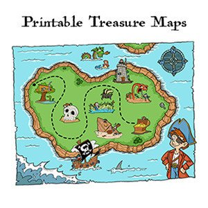 Pirate Treasure Map Template Pirate Printables