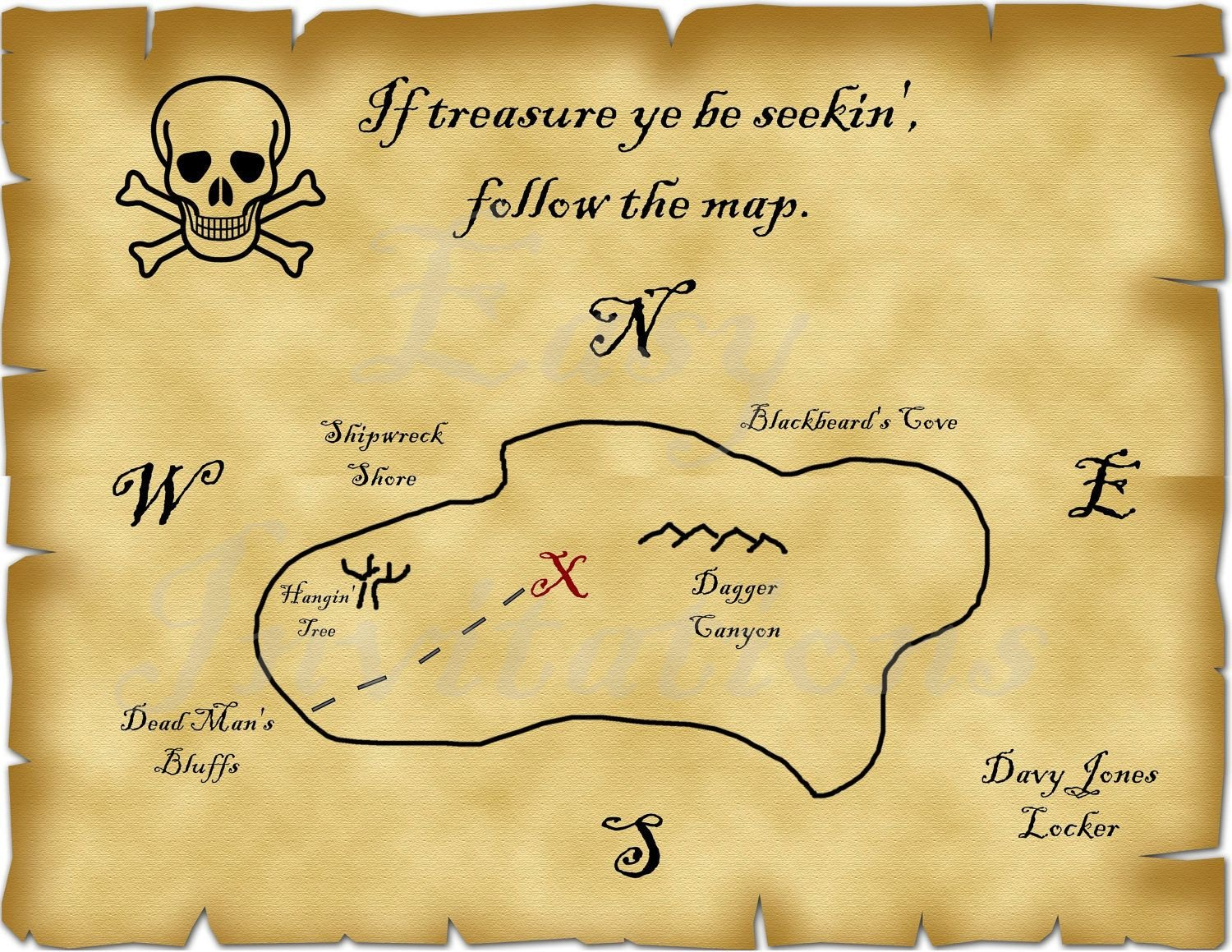 Pirate Treasure Map Template Printable Pirate Treasure Map Best S Template