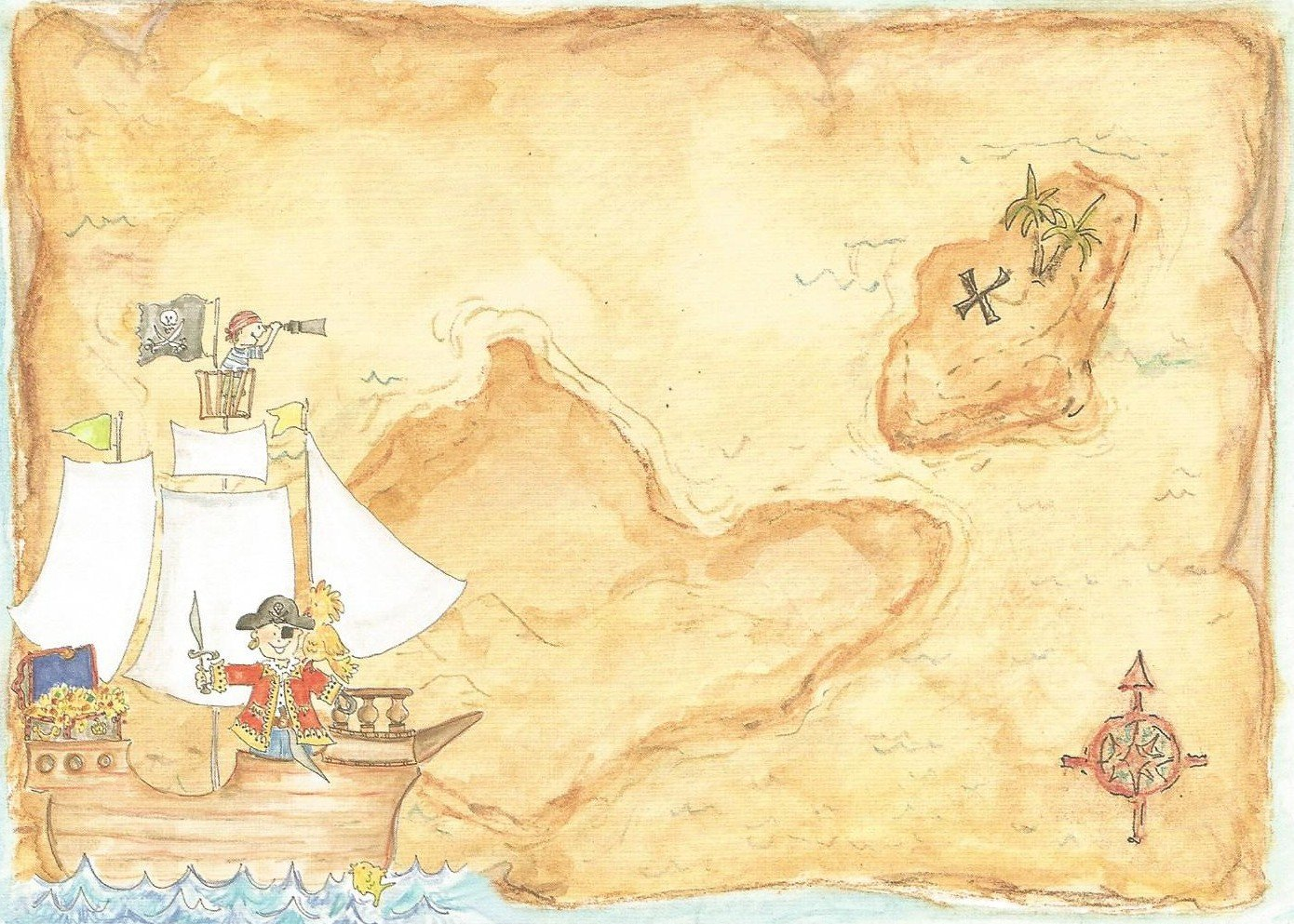Pirate Treasure Map Template Treasure Map Invitation Templates