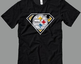 Pittsburgh Steelers Superman Logo Kids Steelers Shirt