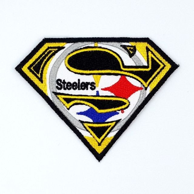 Pittsburgh Steelers Superman Logo Pittsburgh Steelers T Iron On Patches Embroidered Badge