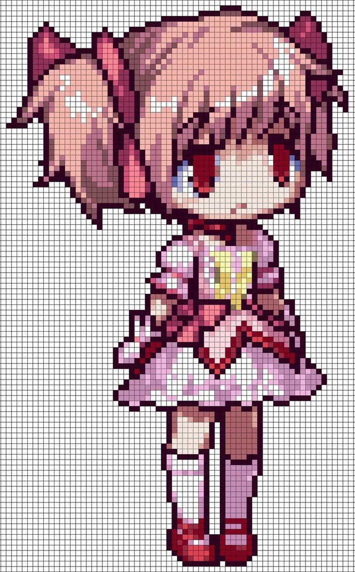 Pixel Art Grid Anime 1000 Ideas About Pixel Art Grid On Pinterest