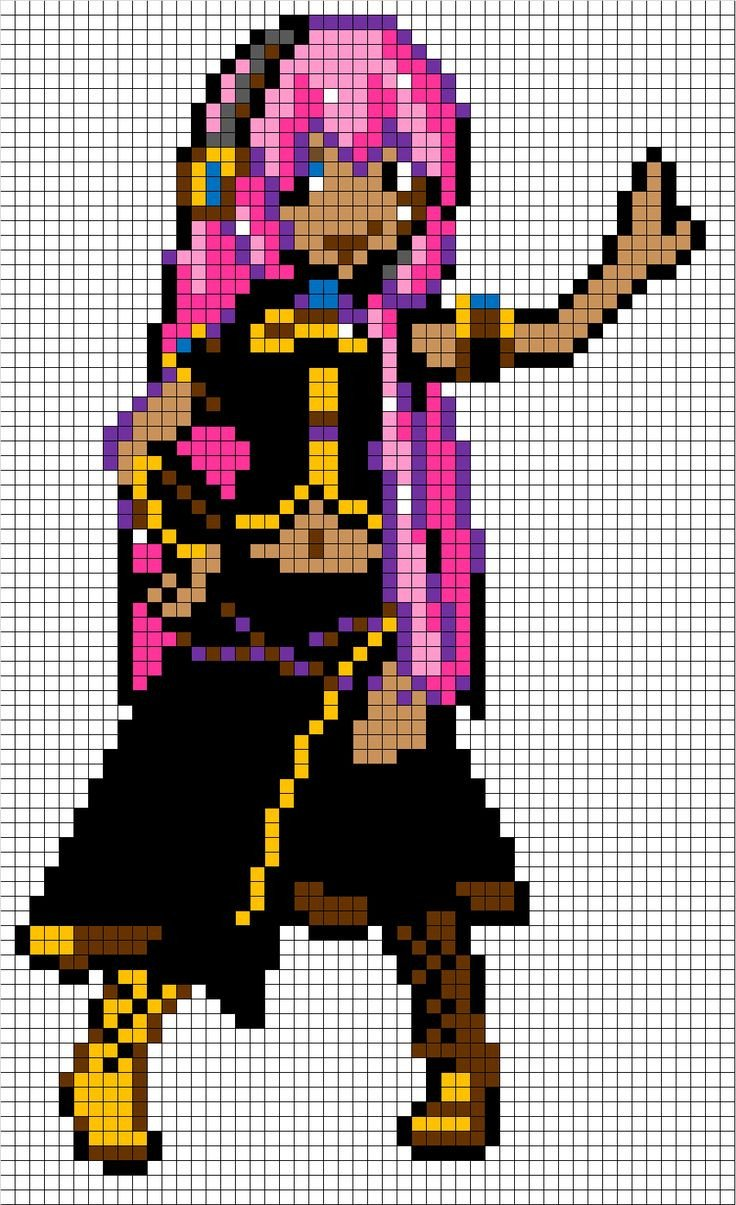 Pixel Art Grid Anime Megurine Luka Pixel Art Template I Made This One Myself