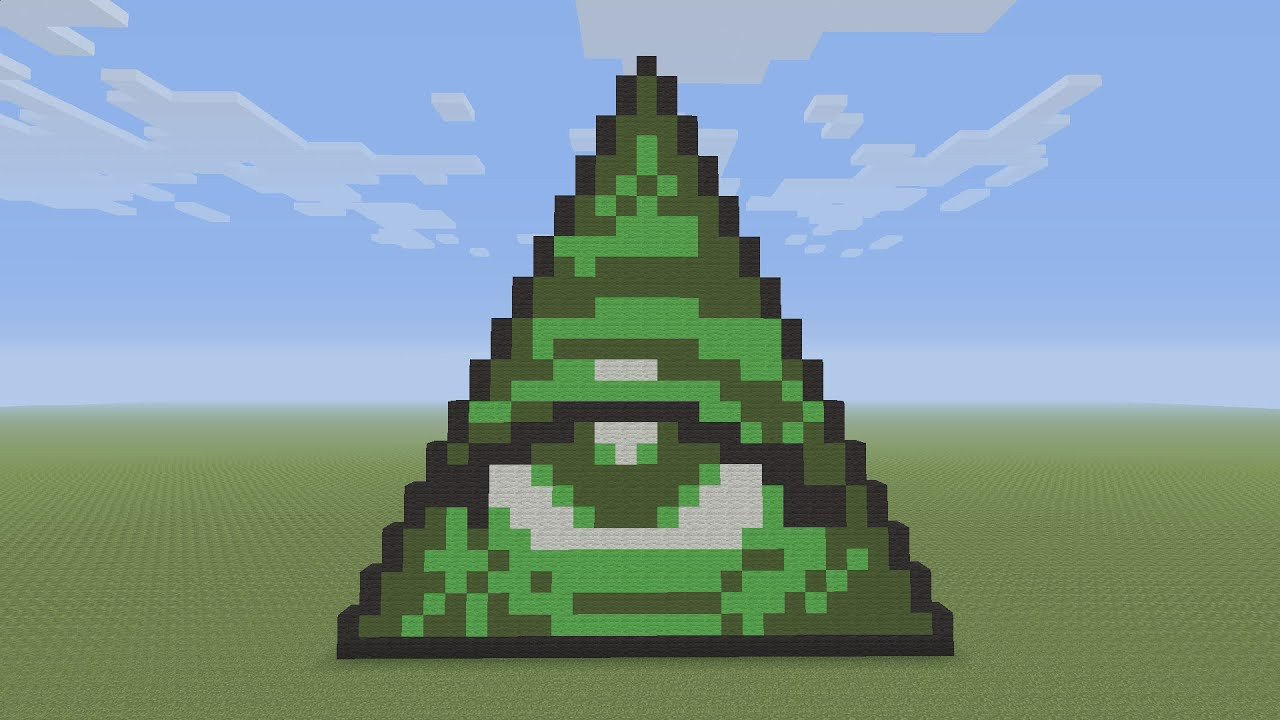 Pixel Arts In Minecraft Minecraft Pixel Art Illuminati Pyramid
