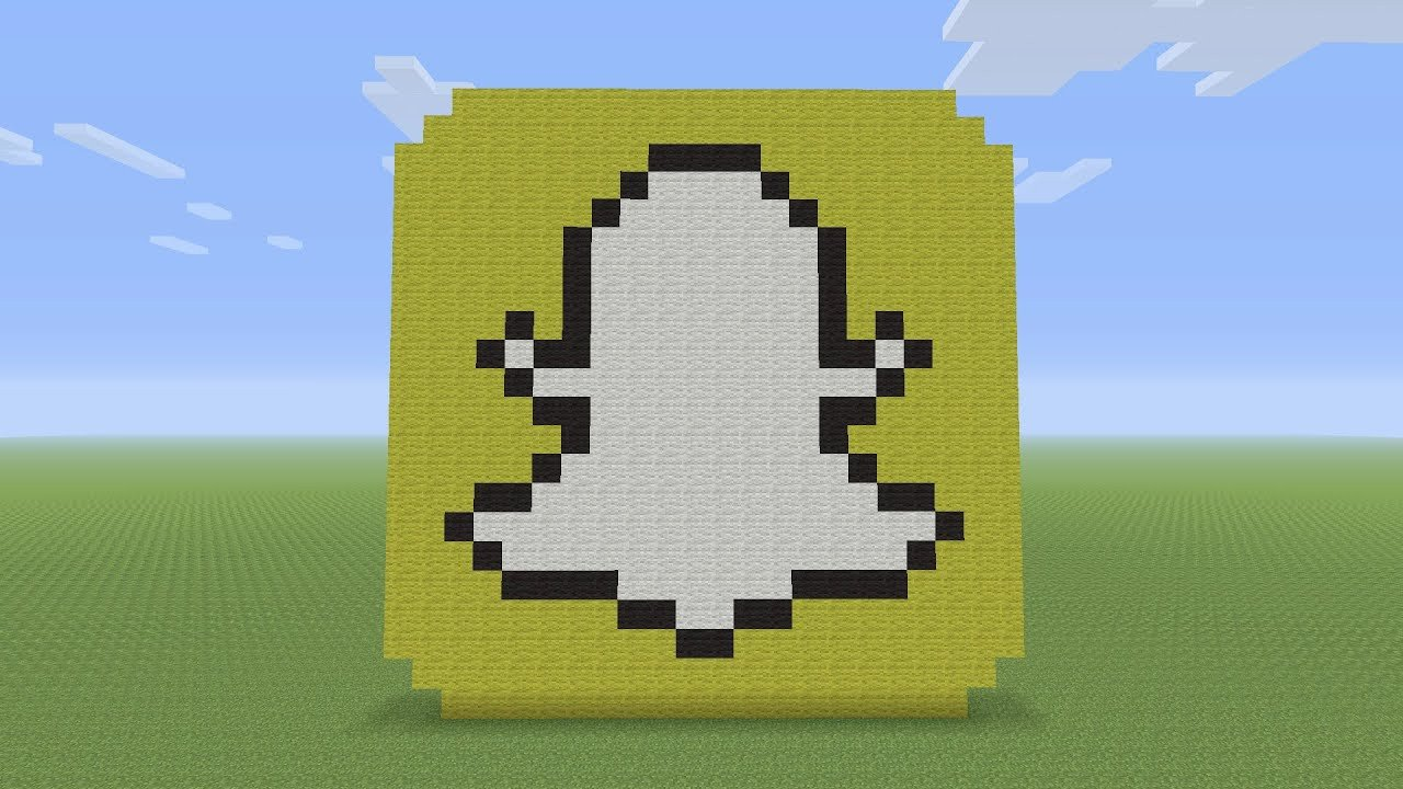 Pixel Arts In Minecraft Minecraft Pixel Art Snapchat Logo