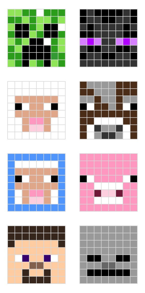 Pixel Arts In Minecraft Minecraft Pixel Art Templates — All for the Boys