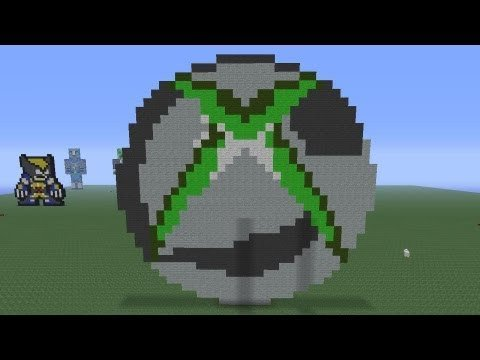 Pixel Arts In Minecraft Minecraft Pixel Art Xbox360 Logo Tutorial