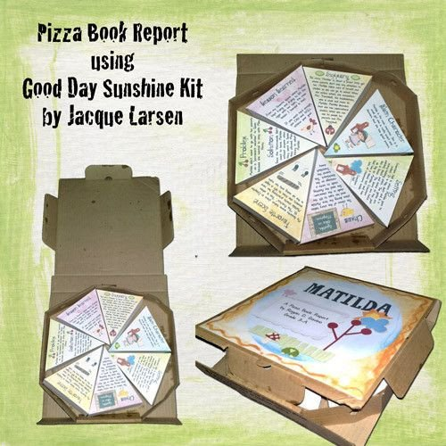 Pizza Book Report Template 21 Best Images About Food Book Report Projects On