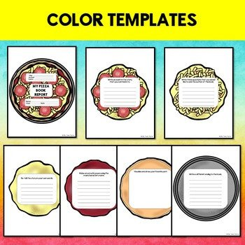 Pizza Book Report Template Creative Book Report Pizza Template with Rubric by Jewel