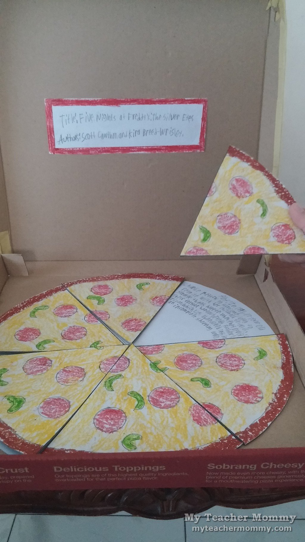 Pizza Book Report Template Pizza Book Report Five Nights at Freddy S the Silver