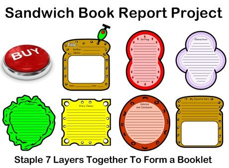 Pizza Book Report Template Sandwich Book Report Project Templates Printable