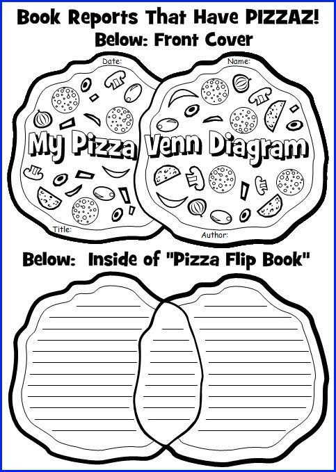 Pizza Book Report Template Venn Diagram Book Report Project Templates Printable
