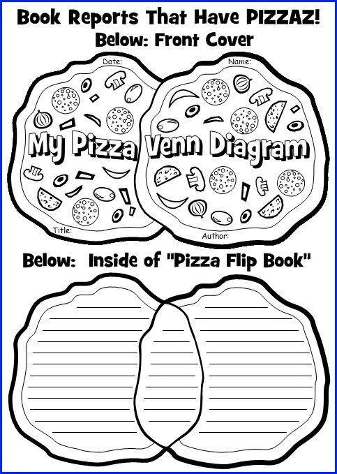 Pizza Book Report Template Venn Diagram Book Report Project Templates Printable