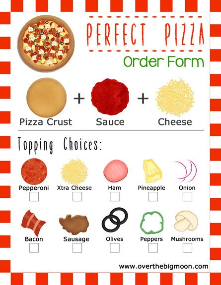 Pizza order form Template Movie and Pizza Family Night Idea W Printable order forms